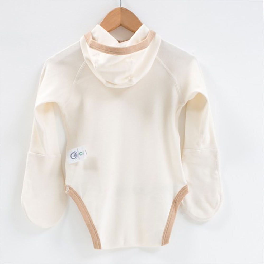 Eczema Scratch Mitten Body With Hood from Pure Cotton Comfort