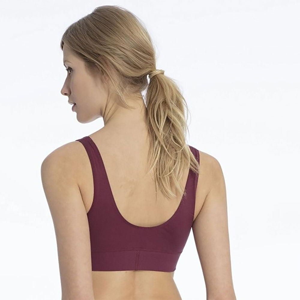 Burgundy 94% Cotton Bra from Pure Cotton Comfort