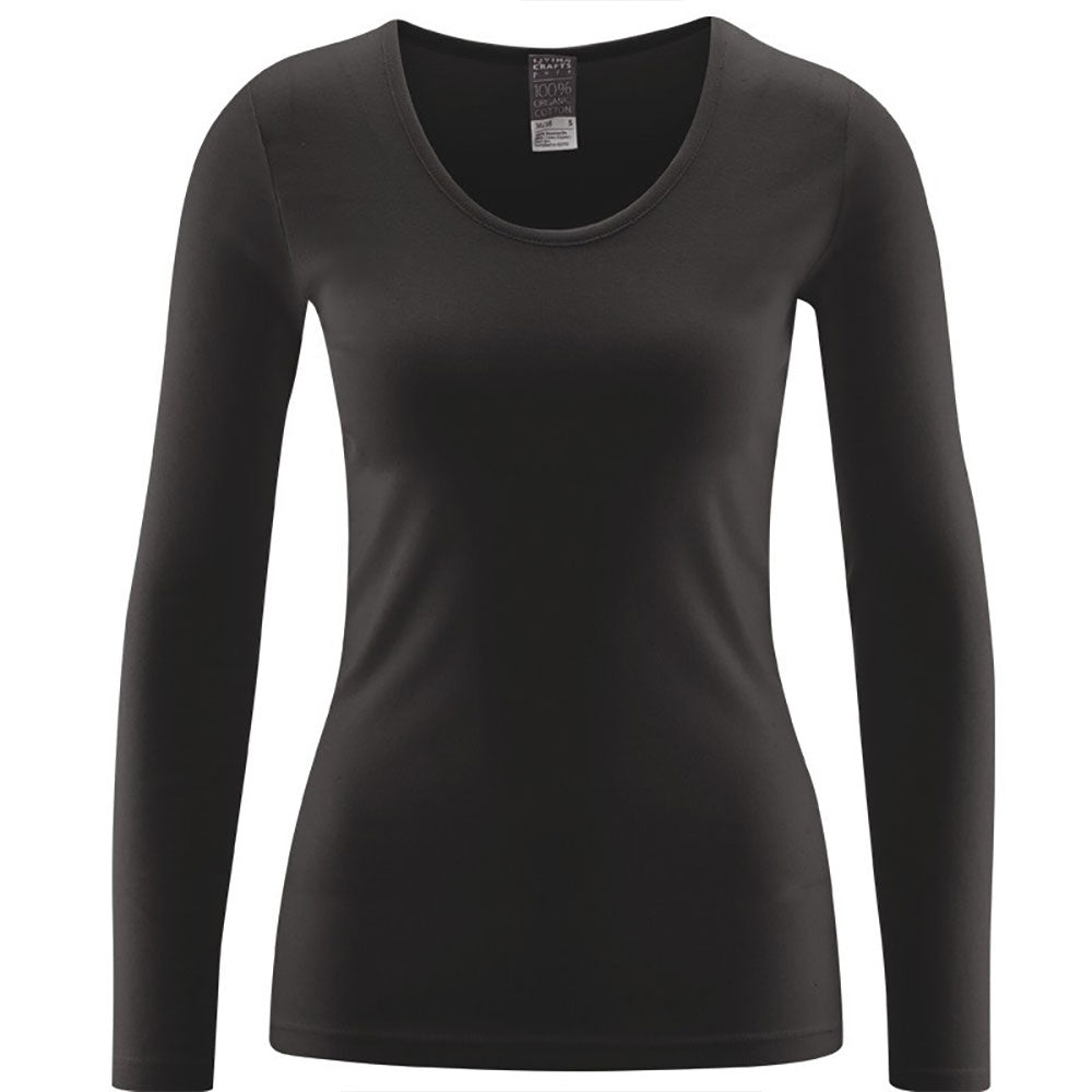 Black Long Sleeve Top from Pure Cotton Comfort