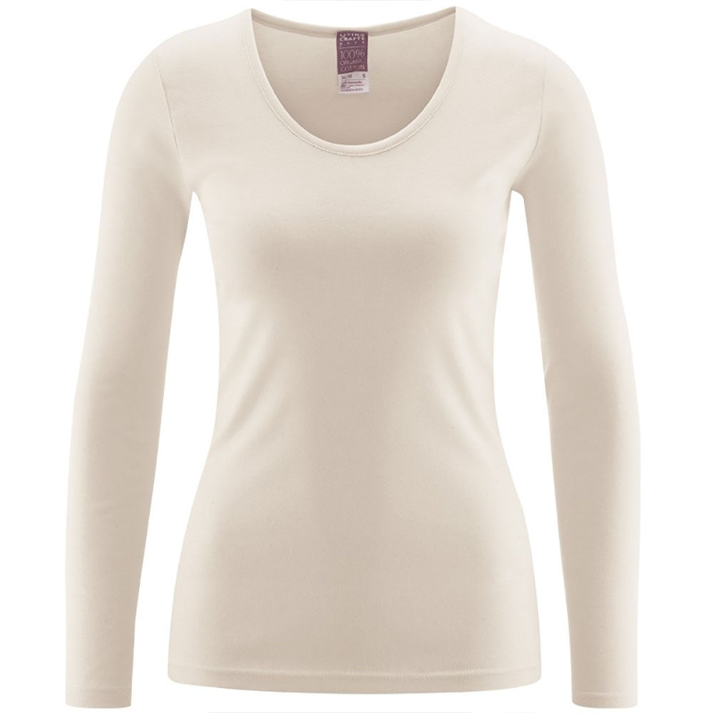 White Long Sleeve Top from Pure Cotton Comfort
