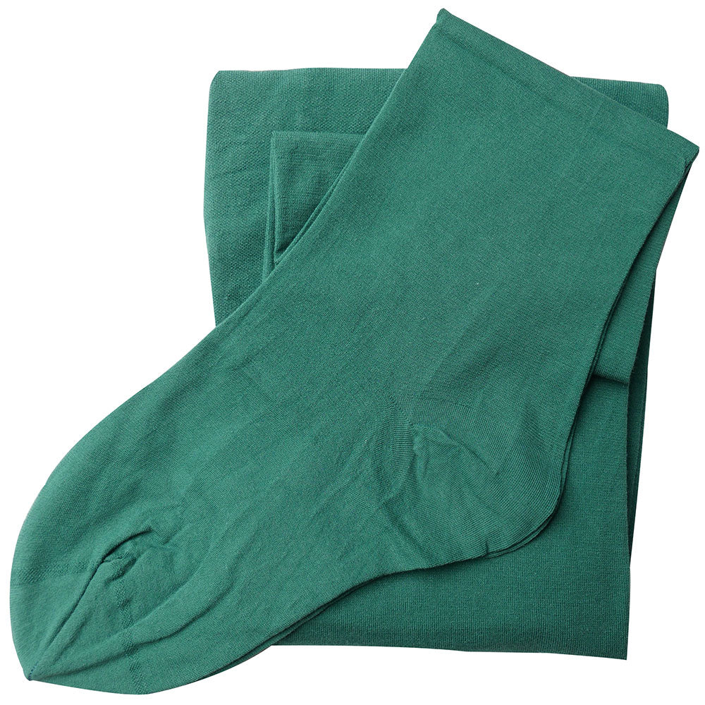 Bottle Green Fine 93% Organic Cotton Tights Pure Cotton Comfort