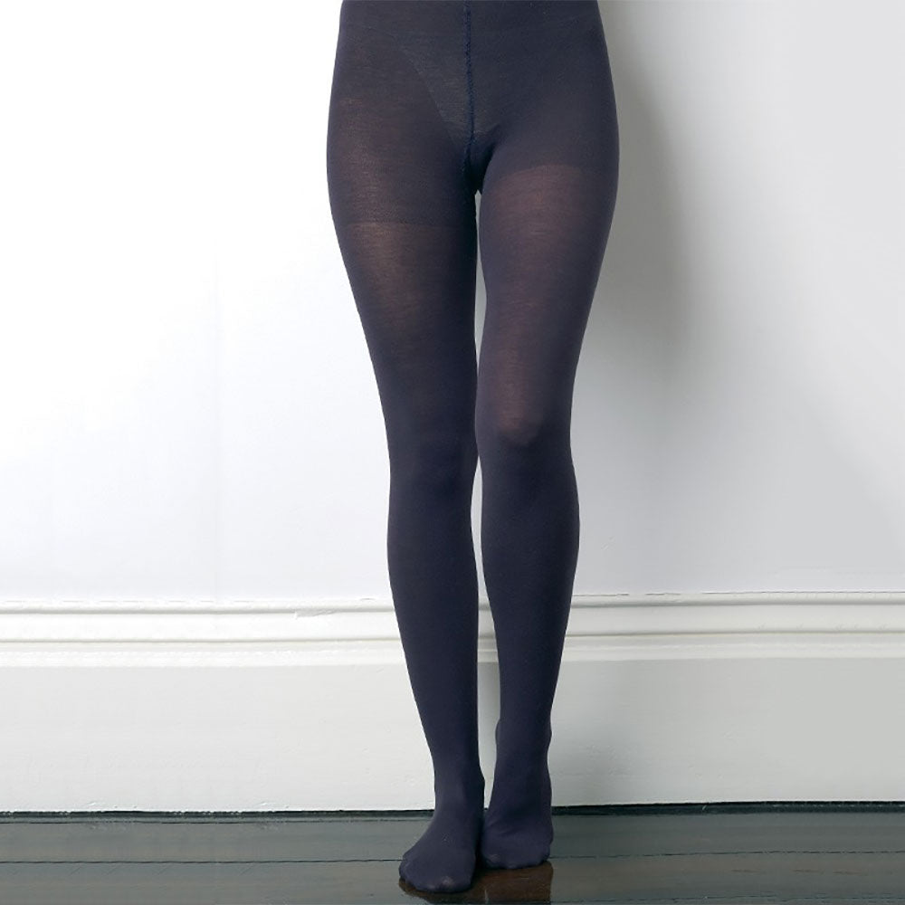 Fine 93% Organic Cotton Tights Pure Cotton Comfort