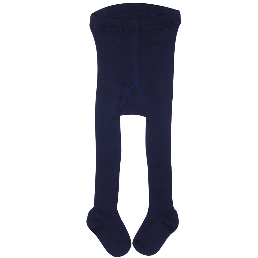 Navy 100% Organic Cotton Baby Tights from Pure Cotton Comforts