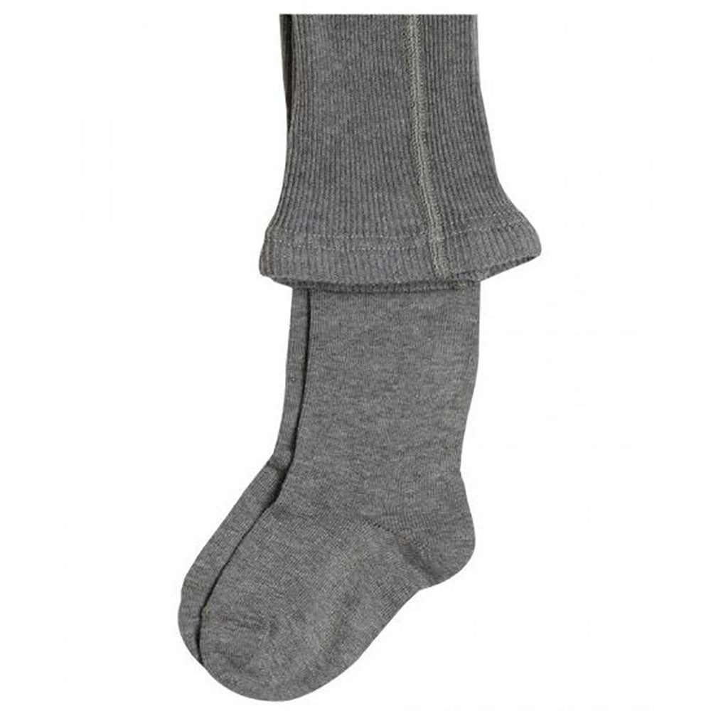 Grey 98% Organic Cotton Child's Flat Knit Tights from Pure Cotton Comfort