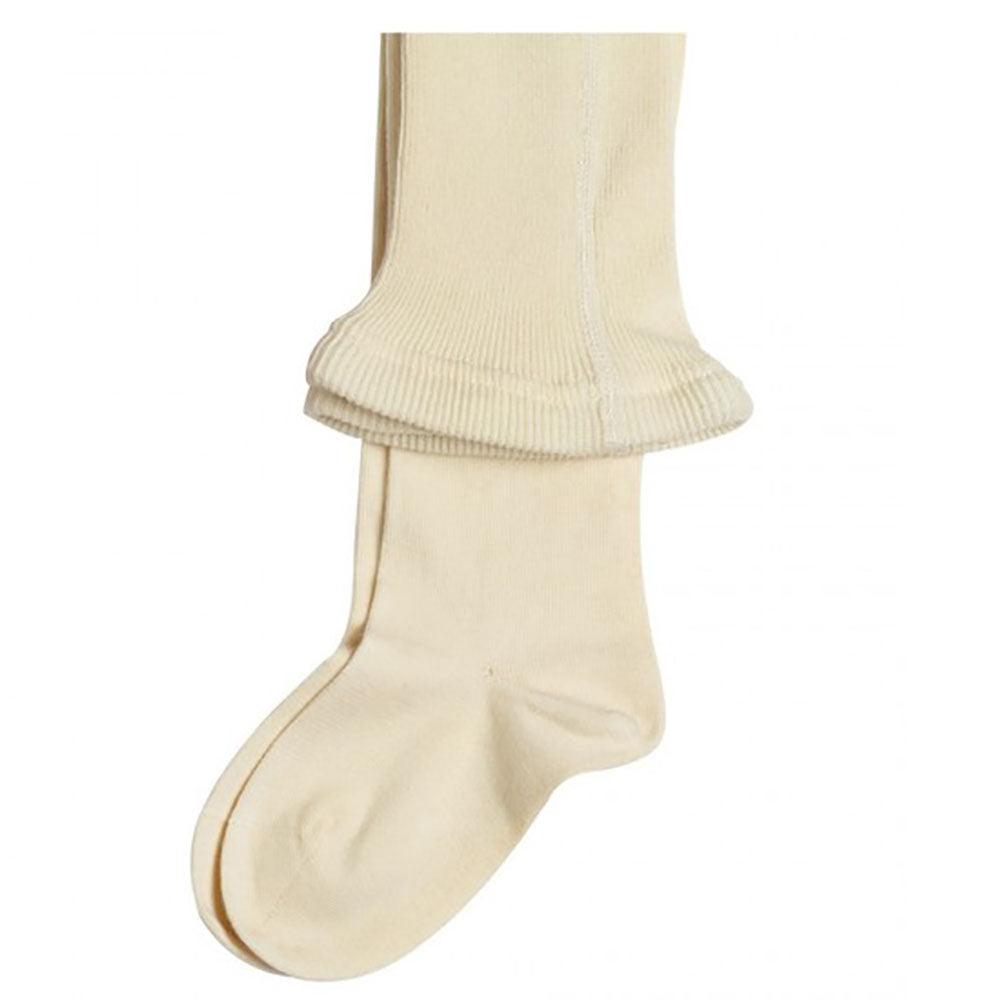 Natural 98% Organic Cotton Child's Flat Knit Tights from Pure Cotton Comfort