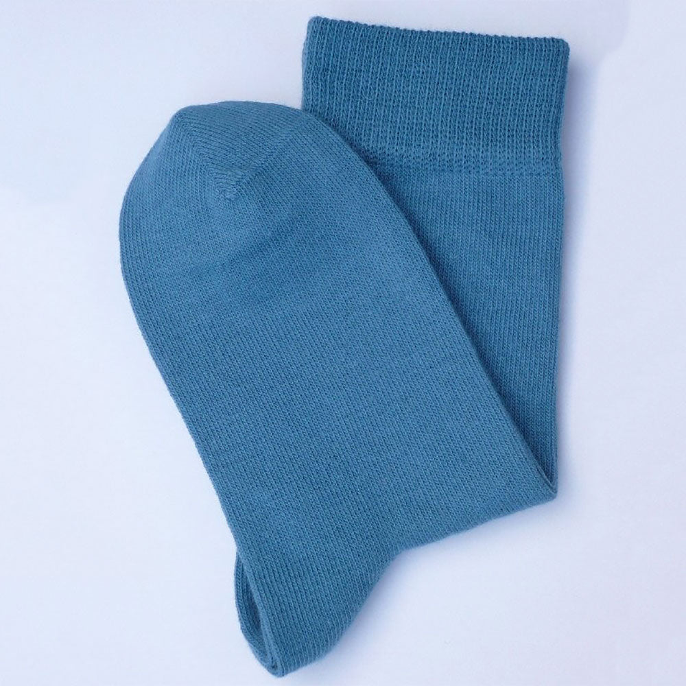 Polar Blue 98% Organic Cotton  Child's Ankle Socks from Pure Cotton Comfort