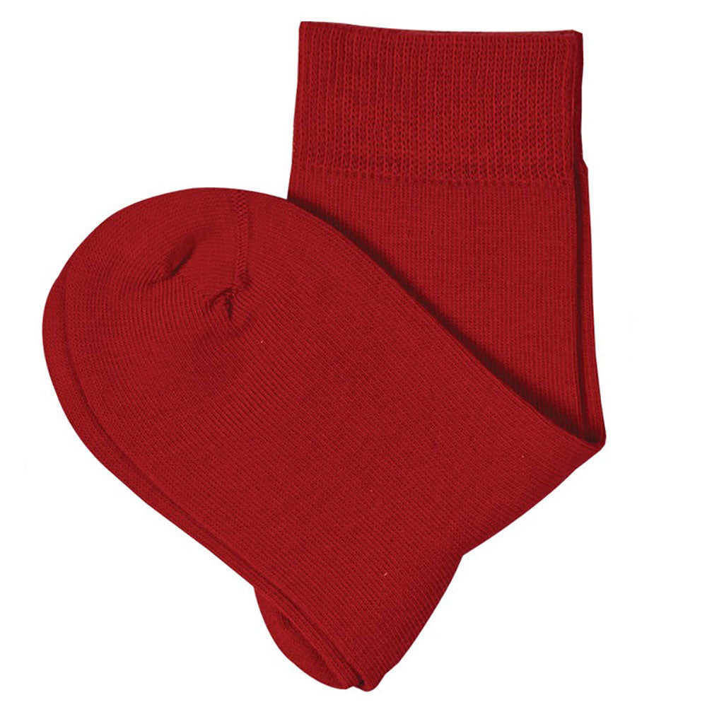 Red 98% Organic Cotton  Child's Ankle Socks from Pure Cotton Comfort