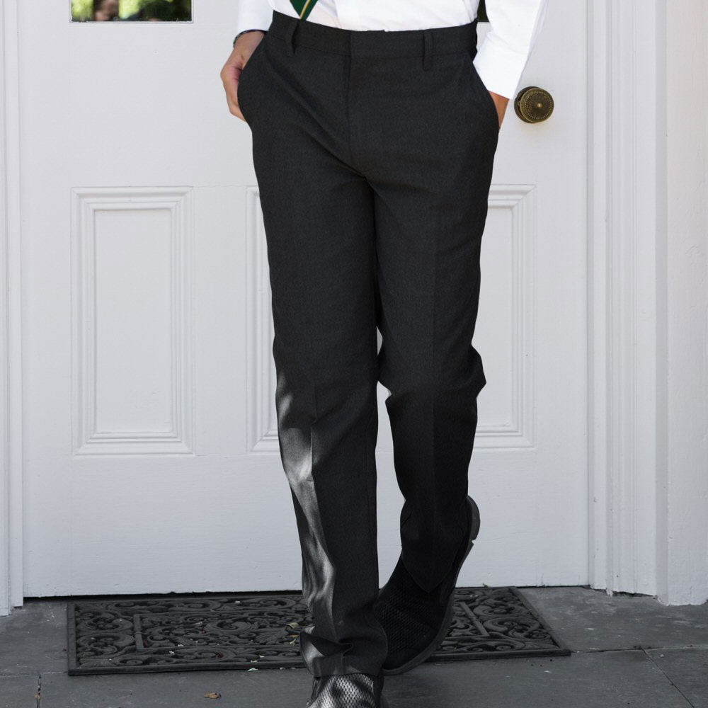 Black Zip Front School trousers from Pure Cotton Comfort