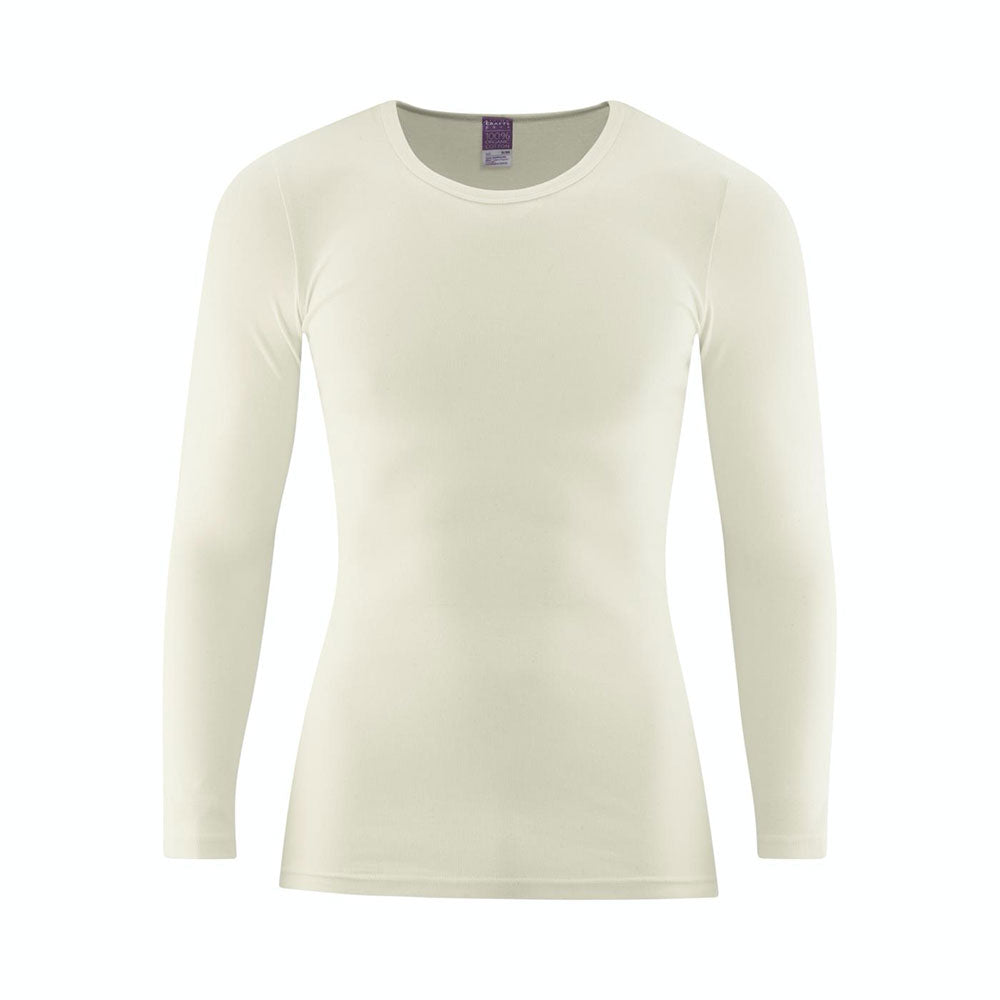 Natural 100% Organic Cotton Long Sleeve Top from Pure Cotton Comfort