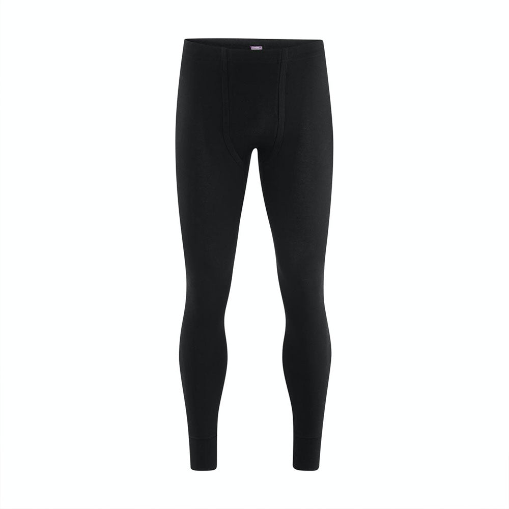 Black 100% Organic Cotton Long Johns for Men from Pure Cotton Comfort