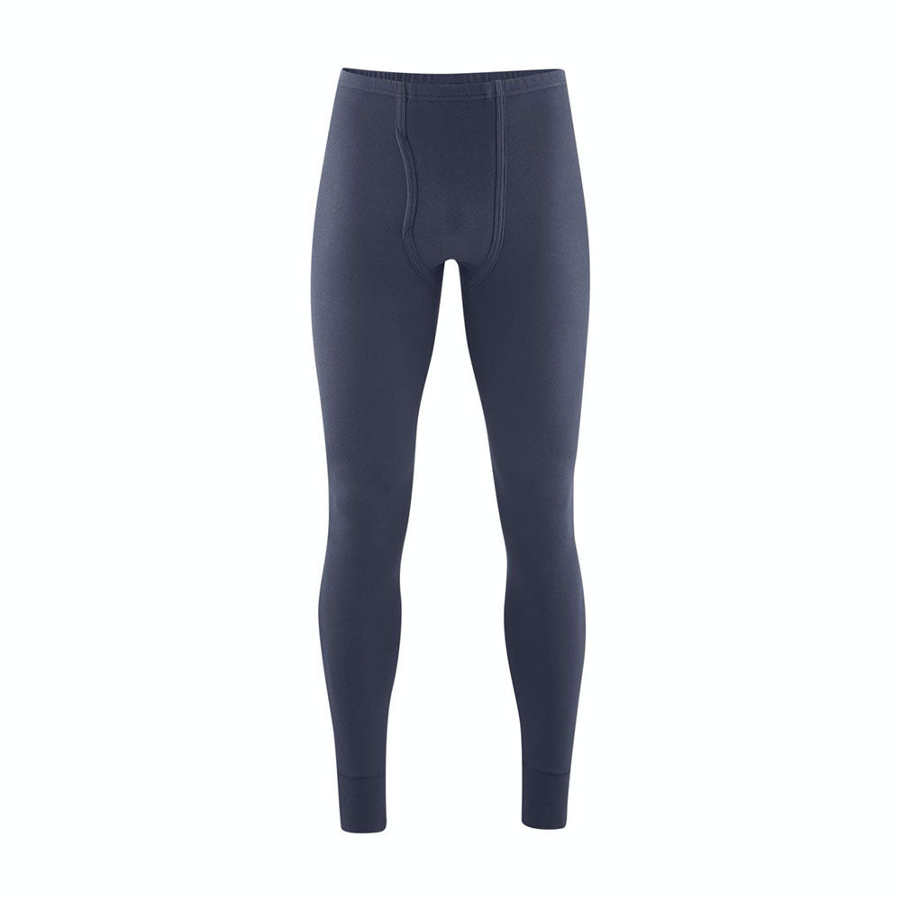 Navy Graphite 100% Organic Cotton Long Johns for Men from Pure Cotton Comfort