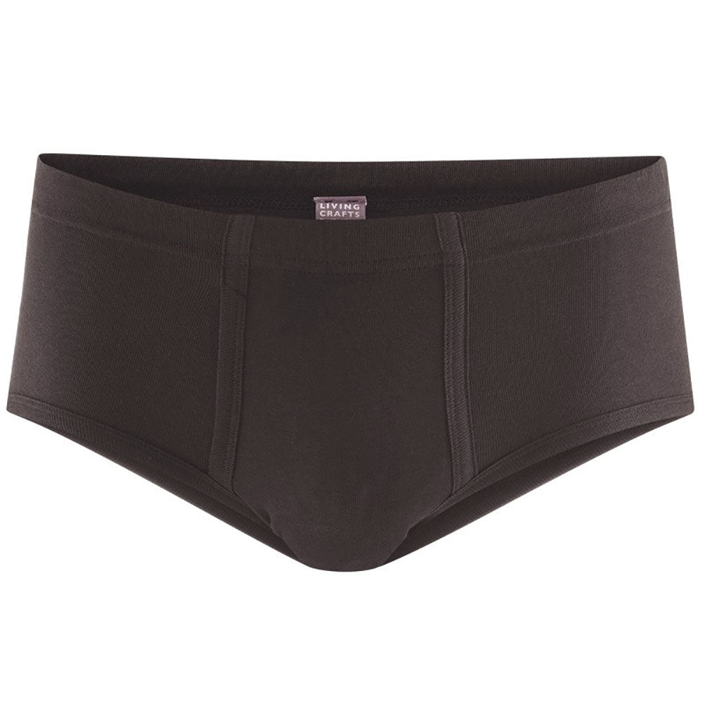 Black 100% Organic Cotton Underpants from Pure Cotton Comfort