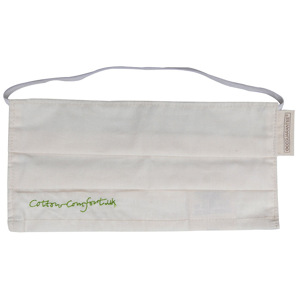 Pack Of 2 Organic Cotton Face Covering With Filter Pocket from Pure Cotton Comfort