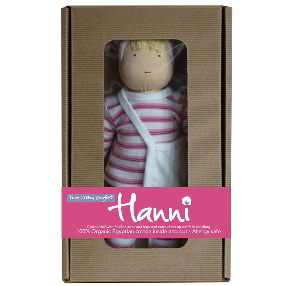 Pink Hanni Organic Doll from Pure Cotton Comfort