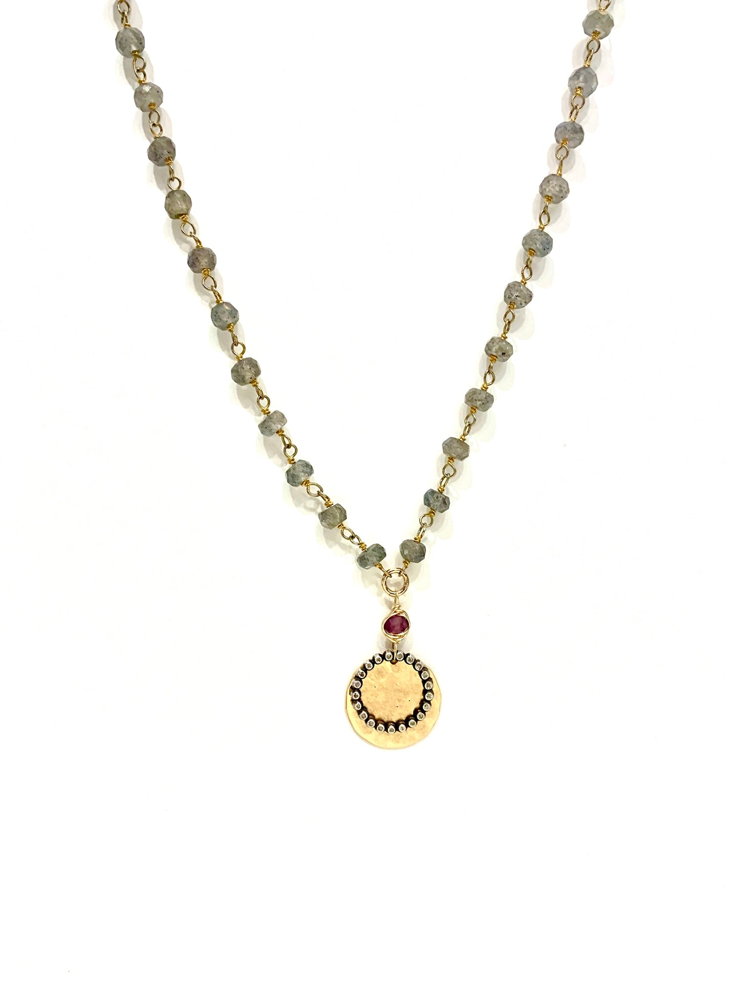 Labradorite & Garnet Necklace