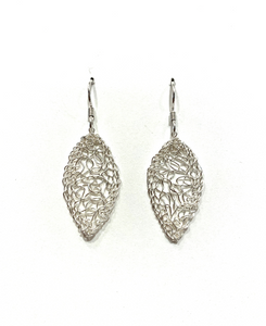 Crocheted Leaf Earrings