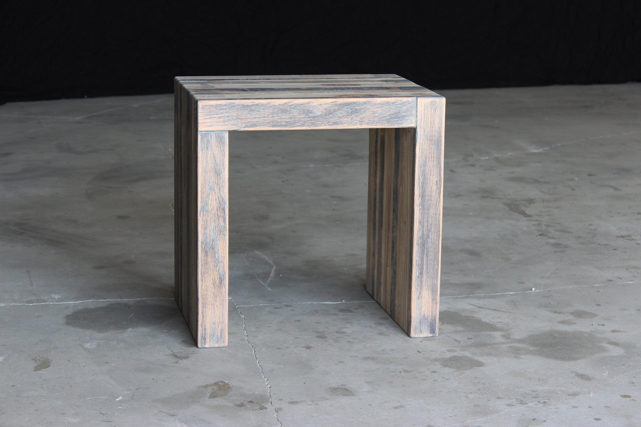 bento side table | aged wood finish
