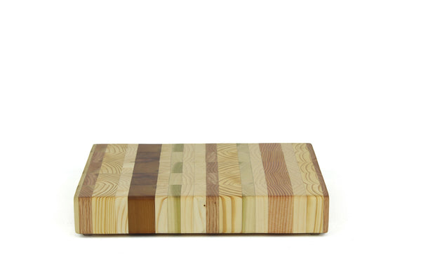 Blended Woods End Grain Cutting Board 15 x 11
