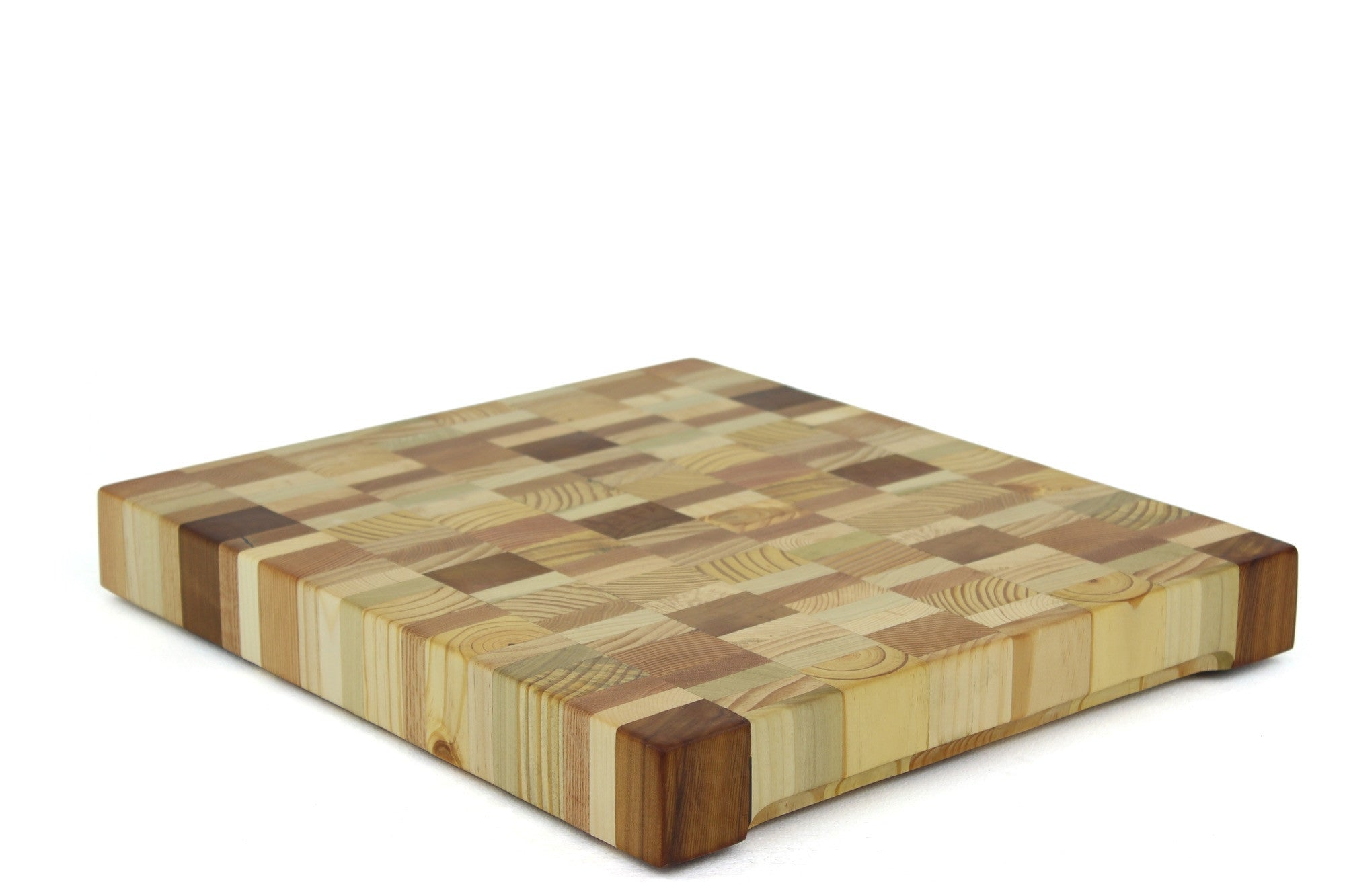 Blended Woods End Grain Cutting Board 19 x 17