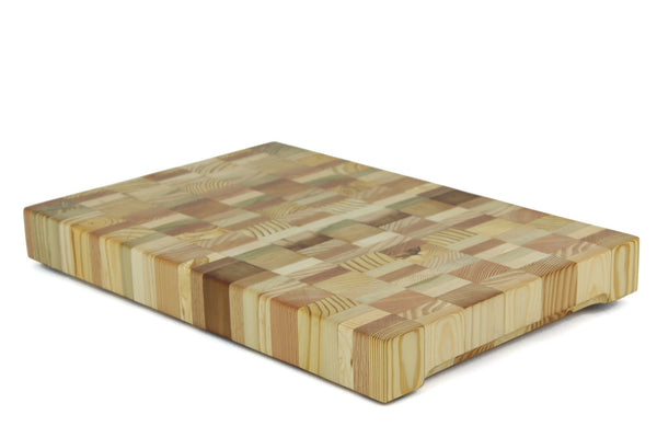 Blended Woods End Grain Cutting Board 22 x 15