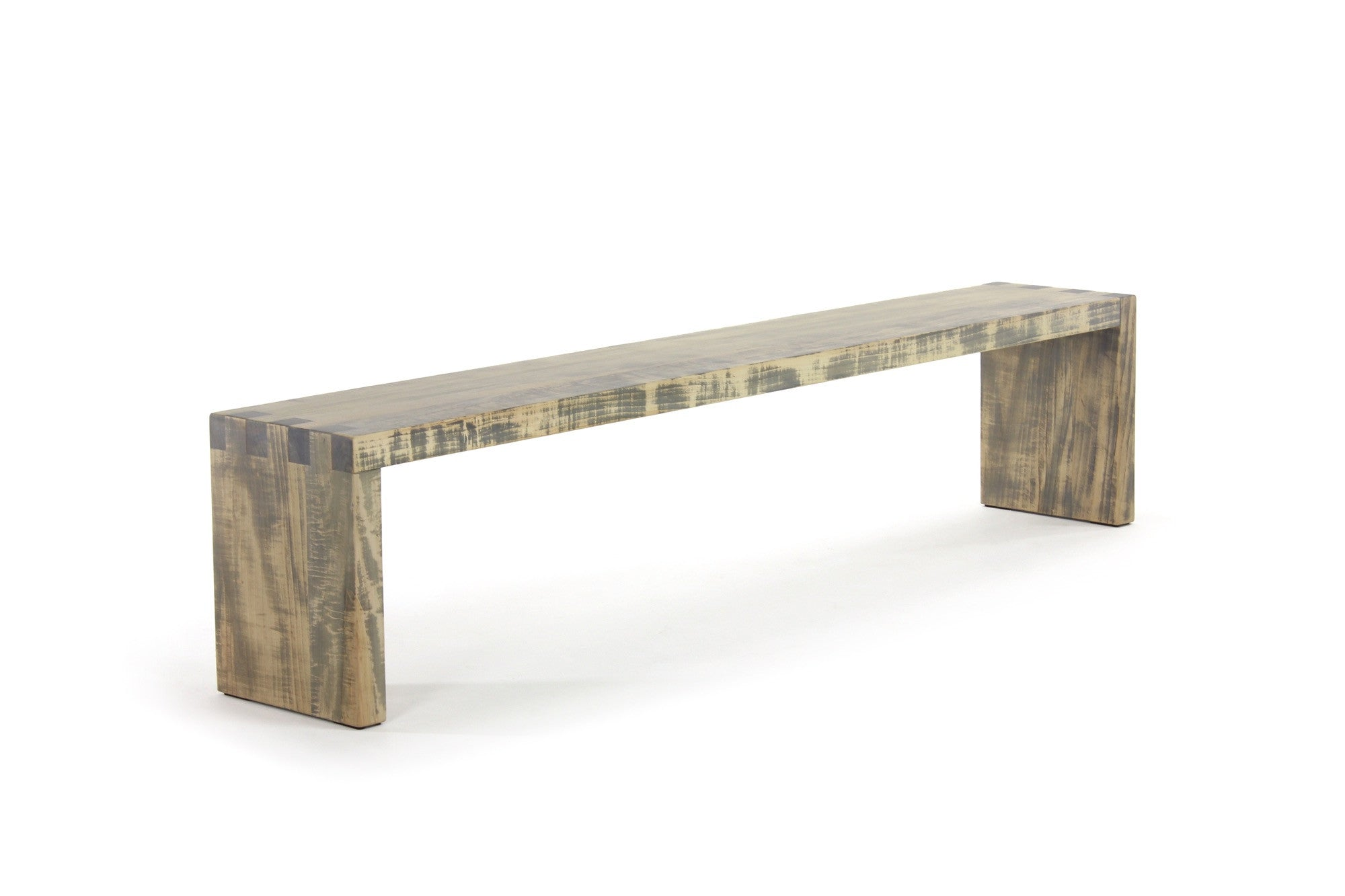 bento bench | worn maple wood finish