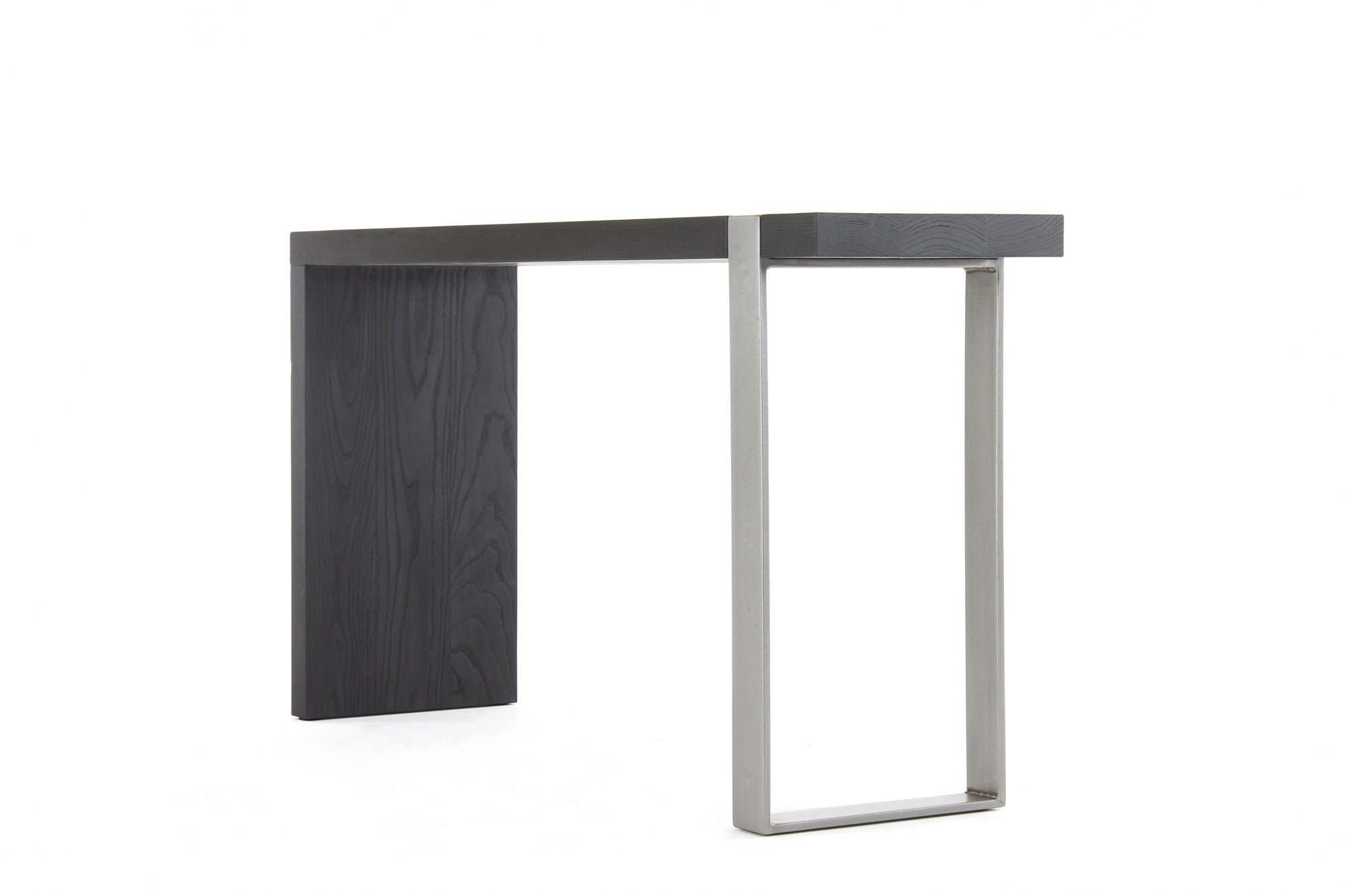 5u0027 Entry Table | Volcanic Ash Wood Finish With Stainless Steel