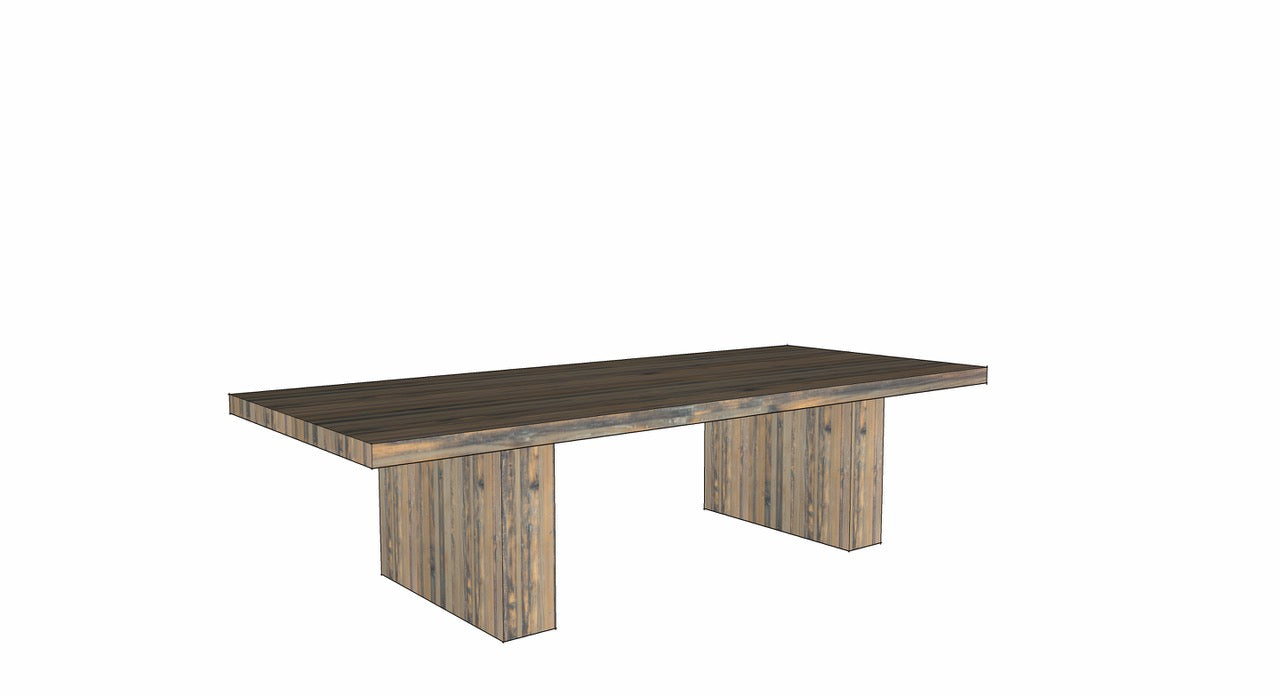 Custom trestle-style dining table