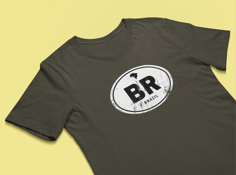 Brazil Rugged Country Code Tee