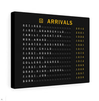 Legacy Arrivals Board on canvas