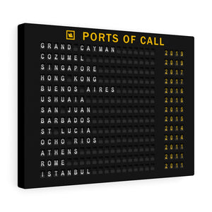 "Cruise ""Ports of Call"" Canvas Wrap"