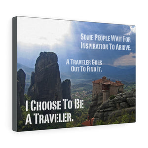 Inspirational Travel Quote on Canvas: Find Inspiration