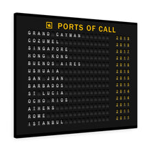 "Load image into Gallery viewer, Cruise ""Ports of Call"" Canvas Wrap"