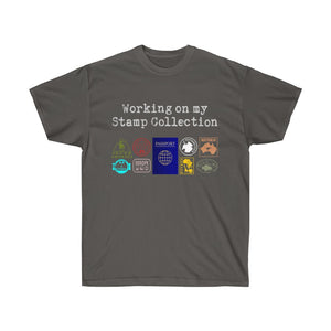 Passport Stamp Collection Tee -Gray