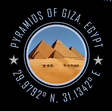 Load image into Gallery viewer, Pyramids of Giza Bucket List Destination