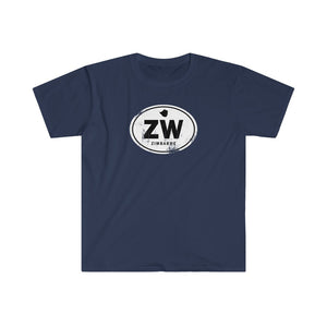 Zimbabwe Rugged Country Code Softstyle T-Shirt
