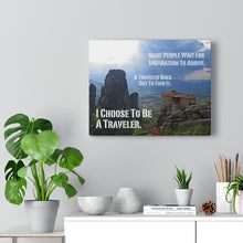 Load image into Gallery viewer, Inspirational Travel Quote on Canvas: Find Inspiration