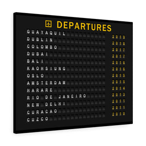 Custom Departure Board For Travelers