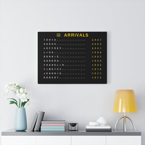 Heritage Arrivals Canvas Gallery Wrap