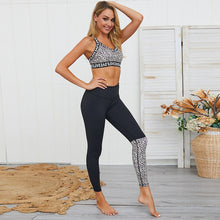 Load image into Gallery viewer, Women Yoga Sets Ensemble Leopard