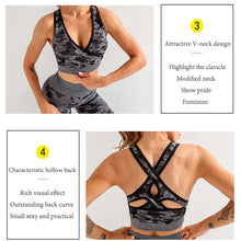 Load image into Gallery viewer, Set 3 PCS Camouflage Seamless Yoga Suit