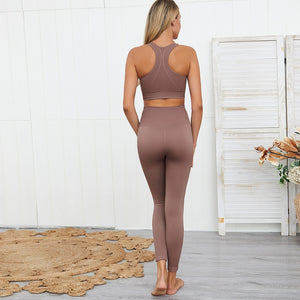 2 Pcs SEAMLESS RIBBED YogaSuits