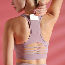 Load image into Gallery viewer, Back pocket sports bra