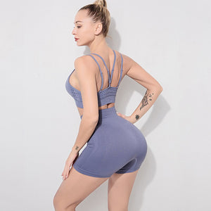 2 Pcs Seamless Yoga Suits Energy