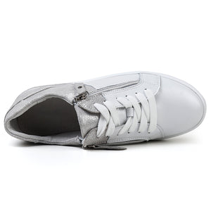 2020 flat shoes zip genuine leather