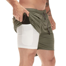 Load image into Gallery viewer, Men 2 in 1 Running Shorts