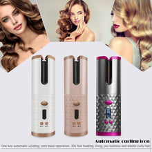 Load image into Gallery viewer, Cordless Automatic Hair Curler USB Rechargeable