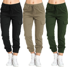 Load image into Gallery viewer, Waist Pants Casual Loose Pockets Pantalones Femme Streetwear 7