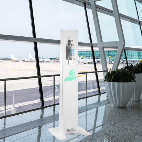 Image of Foot Pedal Hand Sanitizer Stand