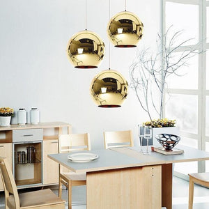 Globe Wide Mini Glass Pendant Lights 7 & 3/4""
