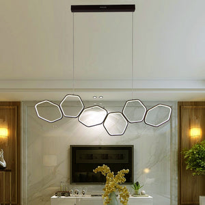 Jocasta - Art Deco LED Geometric Chandelier